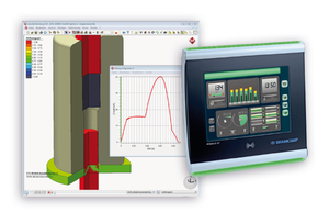 Industry 4.0: Coupling process simulation and process monitoring. Source right: Brankamp GmbH Process Monitoring System PROKOS X7